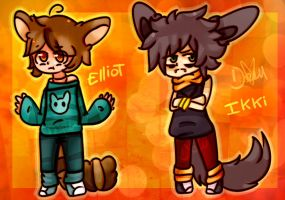Elliot and ikki by Damian-Fluffy-Doge