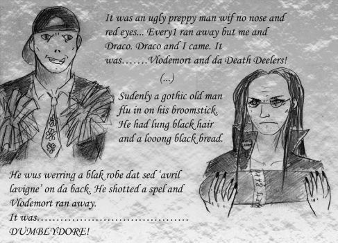 Vlodemort and Dumblydore by kocanek