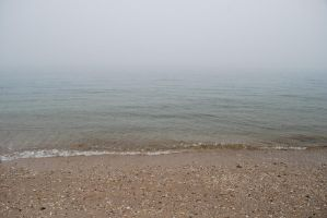 Foggy Beach Stock 2009_10 by jeanniebluestock
