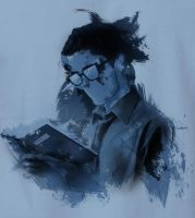 Caleb Prior 'Reading' - T-shirt by TributeDesign