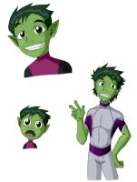 Random Beast Boy by demonoflight