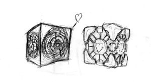 Pandorica wubs companion cube by thecouldhavebeenKing