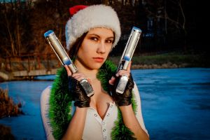 New Year's Lara Croft - friendly face by TanyaCroft