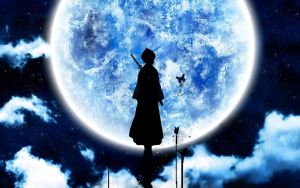 Rukia in the Moon Light by BubiMandril