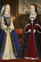Liz and Mary by TenorSaxLolita