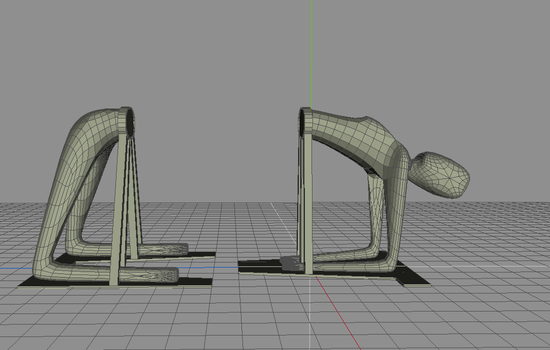 Bridge-posed sawing prop concept 04 by cergean
