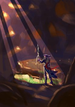 Speedpaint - Light in a Cavern by chinara