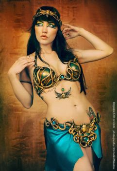 Egyptian Mina Belly Dance set by organicarmor