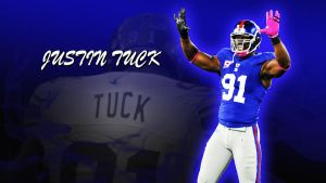 Justin Tuck by jason284