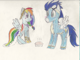 Rainbow, Soarin', and Pie by Lovelye