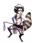 Corporal Raccoon by Aivelin