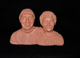 Nan and Grandad sculpt finished by NJSFX