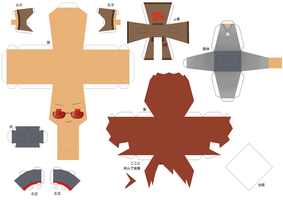2p America papercraft by DandelmiNia