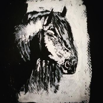 Horse Face (Trad Painting) #2 by Chrysalide36