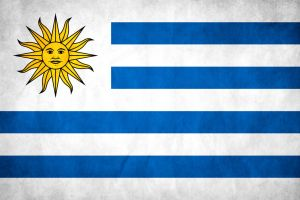 Uruguay Grunge Flag by think0