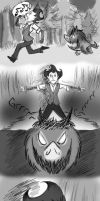 Don't Starve crossover comic:His world meets mine1 by DreamWithinTheHeart