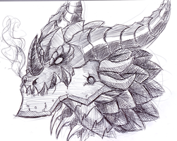 deathwing sketch by werespyro