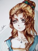 Princess, Original watercolor by Sophie--Chan