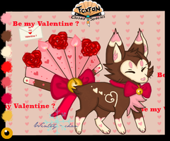 Be My Valentine Foxfan (Closed) by wintry-chan