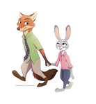 Nick and Judy by BlueHeart417