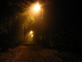 foggy alley by chocolatetherapy