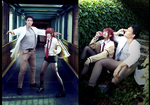 STEINS GATE - Kurisu and Okabe by TessaCrownster