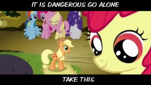 it is dangerous go alone by Wolf20