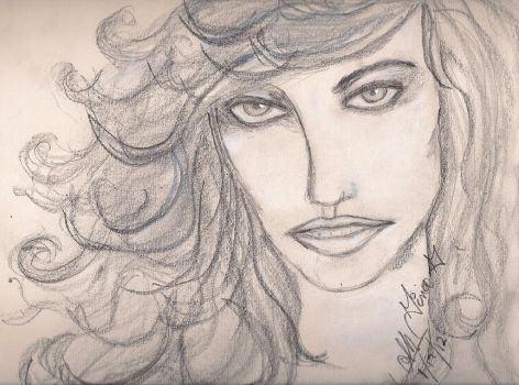 Gina Gershon quick sketch by RosesofBlue2008