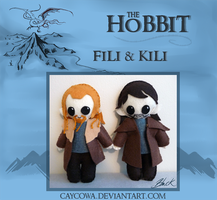 The Hobbit - Fili and Kili plushies by caycowa