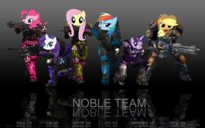 Noble team ponies by Halosassin