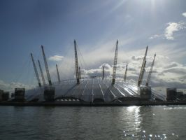 O2 Arena from the Thames by mr-macd