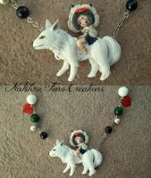 Princess Mononoke Polymer Clay by Nakihra