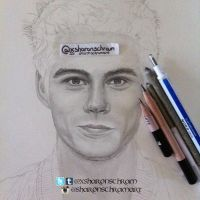 WIP - Dylan O'Brien by Sharsel