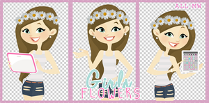 Girls Flowers- 3 Gemelis xd by allmyworld
