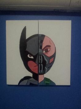 Canvas Painting: Batman and Bane by itbnathan