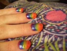 Rainbow Nails! by rose-star