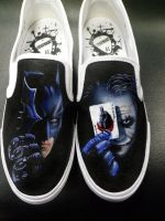 The Dark Knight Slip Ons by danleicester