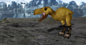 MMD Newcomer Dire Chocobo + DL by Valforwing