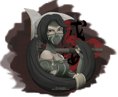 Akali - League of legends by Turuhuha