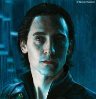 Loki in Jotunheim 3.0 (colour pencils) by Quelchii