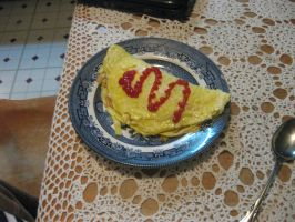 First rice omlette by RoyalBakaness