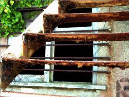 Window through stairs 1 HDR by underitall