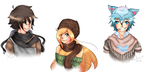 Bust Requests Batch 1/6 + Speed Paint by Nino-Umaka