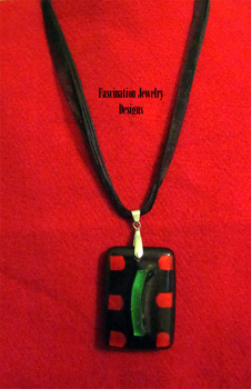 Art Deco Ribbon Necklace by BloodRed-Orchid
