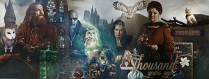 Hogwarts Founders a Thousand Years Ago Header by VaLeNtInE-DeViAnT