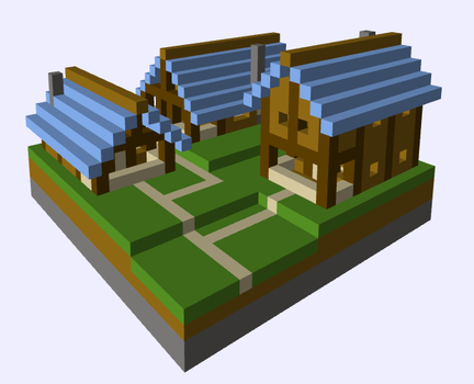 Voxel 3D Render by Jerralon