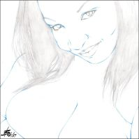 KIRSTY'S BUSTY CLEAVAGE PENCIL by Artistik-Bootya