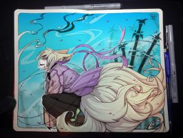 Moleskine: Bamboo breeze by Kate-FoX
