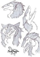Sergal's face's by Mganga-The-Lion