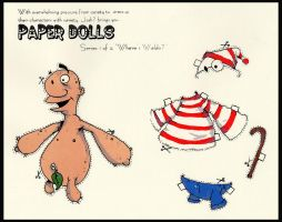 "Paper Doll ""where's waldo?"" by YourFathersMustache"
